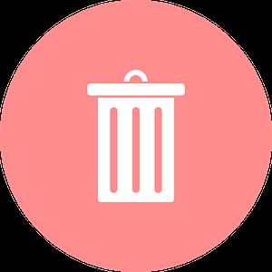 delete, dustbin, garbage can